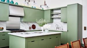 green kitchen cabinets with white island 64 stunning kitchen island ideas architectural digest