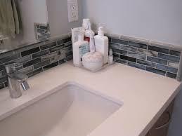 Bathroom Sink Backsplash Ideas Mosaic Tiles Corner Bathroom Sink Bathroom Backsplash Ideas