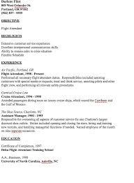 Resume For Flight Attendant Example Of Flight Attendant Resume Http Resumesdesign Com