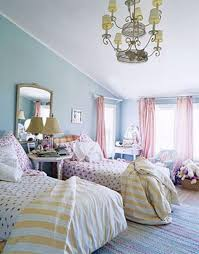 Stylish Pink Bedrooms - stylish girly bedroom with soft pastel shades and pink blue colors