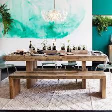 West Elm Carroll Bench Emmerson U0026 174 Reclaimed Wood Dining Table Reclaimed Wood Dining