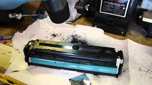 hp laser printer toner refill ce320a youtube