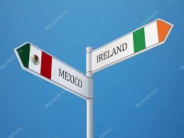 mexico ireland flag directional sign concept u2014 stock photo eabff