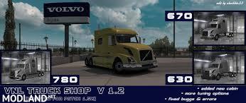 new volvo vnl volvo vnl truck shop v1 2 mod for american truck simulator ats