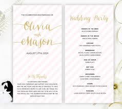 cheap ceremony programs pink and gold wedding programs wedding ceremony programs