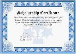 templates for scholarship awards scholarship award certificate template word excel templates