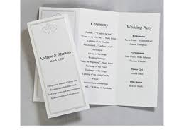 folded wedding program template tri fold wedding program templates photos