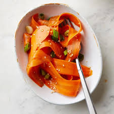 sesame ribbon sesame honey carrot ribbon salad recipe eatingwell