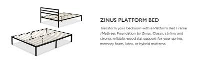 Platform Metal Bed Frame Mattress Foundation Zinus Modern Studio 14 Inch Platform 1500h Metal Bed
