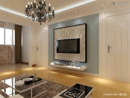 Led Tv Table Decorations Gypsum Board Tv Background Wall Renovation Renderings Tv Wall