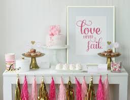 sweet pink u0026 gold valentine u0027s day dessert table mirabelle creations