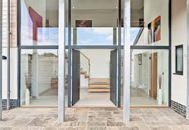 timber fixed frame glazing and timber funkyfront modern front door kloeber jpg