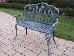 oakland living tulip cast aluminum loveseat bench 1006 vg