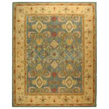 Home Depot Wool Area Rugs Safavieh Anatolia Light Blue Ivory 8 Ft X 10 Ft Area Rug An544d