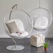 furniture glass bubble hanging chair ikea with chrome stand for