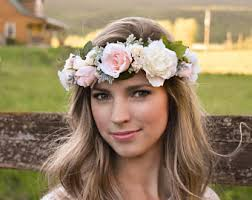 flower crowns boho flower crown eucalyptus crown blush pink floral crown