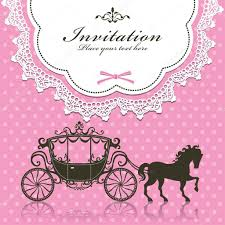vintage luxury carriage invitation design u2014 stock vector donnay