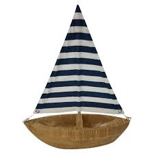 Threshold Home Decor by Threshold Blue Stripe Wooden Boat Decor Fourth Of July