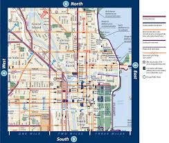 Chicago Attractions Map by Map Of Chicago Illinois Vacations Travel Map Holiday