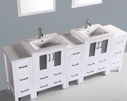 84 Inch Bathroom Vanities by Contemporary 84 Inch White Vessel Sink Bathroom Vanity Set With Mirror