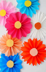 paper flower accordion paper flowers diy candy