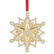 golden snowflake ornament 2017 snowflake decoration lenox