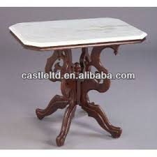 Antique Accent Table Antique Wooden Carved Rectangular Scrolled Accent Table With White