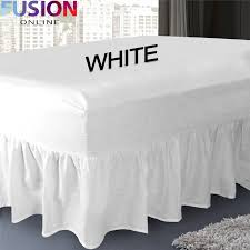 plain fitted valance sheet dyed poly cotton bed sheet single