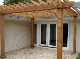 How To Build A Wood Awning Over A Deck Backyard Patios With Pergolas Home Outdoor Decoration