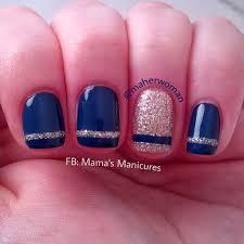 simple stripe nails nail art by mama u0027s manicures maherwoman