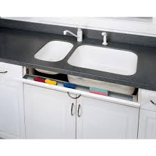 Kitchen Sink Tray Rev A Shelf 3 In H X 19 In W X 1 688 In D Stainless Tip Out