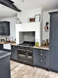 blue kitchen cabinets in cabin 25 ways to style grey kitchen cabinets