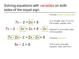 solving multi step equations with variables on both sides worksheets pdf