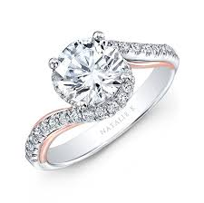 rings gold white images 18k white and rose gold twisted diamond engagement ring jpg
