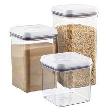 clear plastic kitchen canisters oxo grips 6 square pop canisters the container store