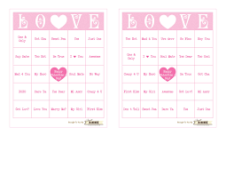 Free Halloween Bingo Cards Printable Conversation Heart B I N G O Free Valentine Bingo Printable