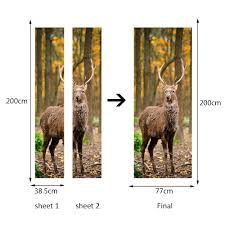 online shop home decor glass door sticker large jungle deer wall online shop home decor glass door sticker large jungle deer wall stickers for bedroom adhesive wall pictures for living room aliexpress mobile