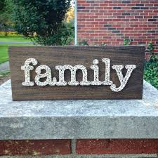home decor family signs made to order string art family sign