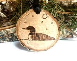 wood burned wildlife ornaments rustic ornaments