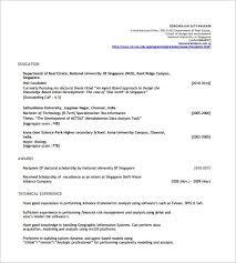 resume exle format resume template singapore resume sle