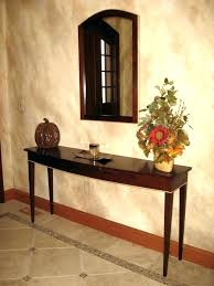 Foyer Console Table And Mirror Foyer Mirror Exle Of A Classic Entryway Design In Other Metal