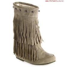 womens mid calf boots nz s suede mid calf rivet suede fringe boots light khaki 38