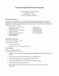 resume templates for customer service resume summary exles for customer service best of exle
