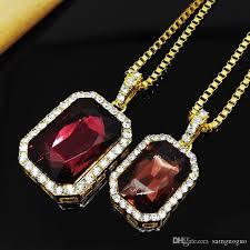 vintage mens necklace images Vintage mens hip hop chain fashion jewelry big gemstone rhinestone jpg
