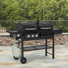 backyard grill gas grill smoke hollow combo gas u0026 charcoal grill with side burner