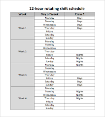 12 hour shift schedule templates u2013 9 free word excel pdf format