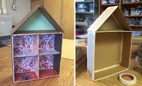 cardboard cutaway house update art projects for kids