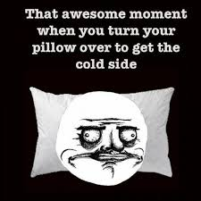 Awesome Meme Quotes - funny quote cool side of pillow