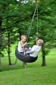 creative from wheel used chain for hanging on kids tree swings can