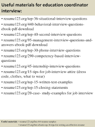 Resume Sample For Education by Top 8 Education Coordinator Resume Samples
